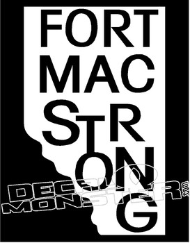 Fort Mac Strong Province 1 Decal Sticker