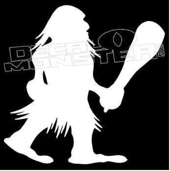 Caveman Silhouette Guy Stuff Decal Sticker