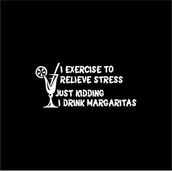 Exercise Drink Margaritas Decal Sticker