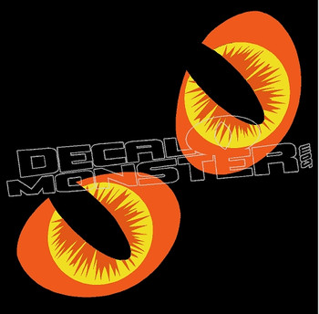 Cat Eyes Color 1 Decal Sticker