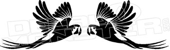 Mirrored Parrots Decal Sticker