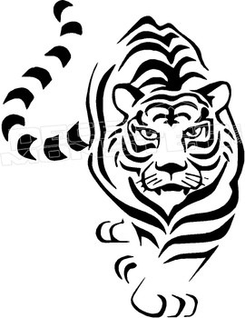 Tiger Silhouette 2 Decal Sticker