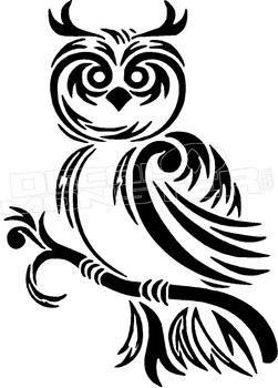 Owl Silhouette 4 Decal Sticker