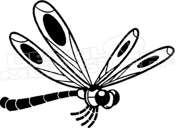 Dragonfly Silhouette 1 Decal Sticker