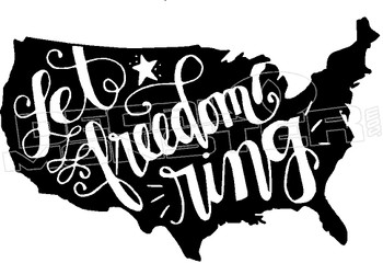 America Let Freedom Ring 1 Decal Sticker