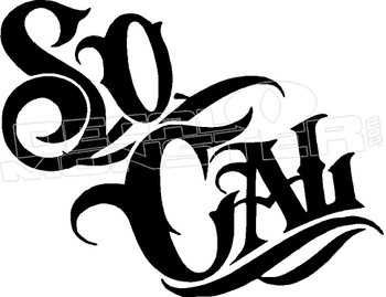 SoCal Southern California Decal Sticker