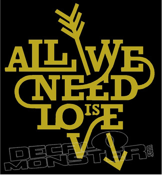 All We Need Is Love 1 Decal Sticker