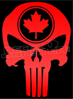 Canadian Military Punisher 1 Decal Sticker