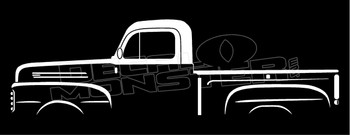 Ford F-1 Vintage 1st Gen F-Series Pickup Truck Silhouette Decal Sticker