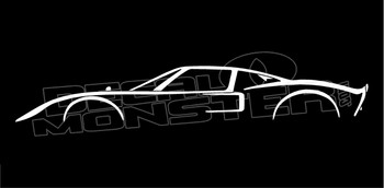 Ford GT40 Classic 1969 Le Mans Race Car Silhouette Decal Sticker