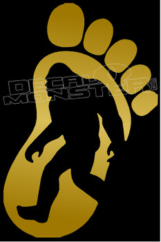 Bigfoot Silhouette 4 Decal Sticker