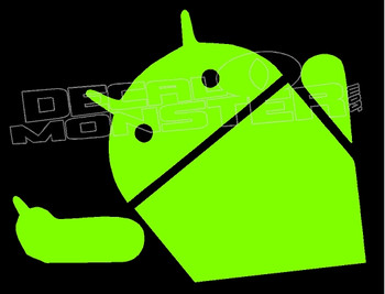Android Finger Decal Sticker