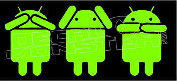 Android See No Hear No Speak No Evil Decal Sticker