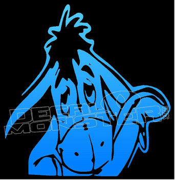 Baby Eeyore Silhouette Decal Sticker