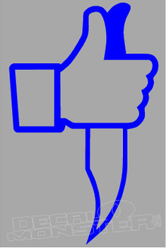 Facebook Like Knife Decal Sticker