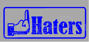 Facebook F Haters Decal Sticker
