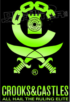 Crooks and Castles 1 Decal Sticker