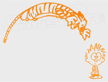 Calvin and Hobbes Silhouette 11 Decal Sticker