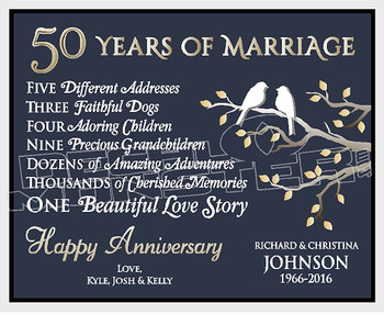 50 Years of Marriage Oath Decal Sticker