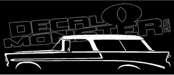 1956 Chevrolet Nomad Station Wagon Classic Chevy Decal Sticker