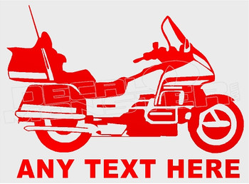 Goldwing Your Text Motorcycle Decal Sticker