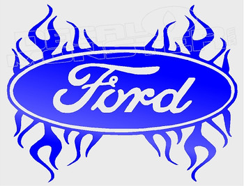 Ford Tribal Flames 2 Decal Sticker