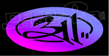 311 Band Silhouette 1 Decal Sticker
