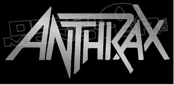 Anthrax Band Silhouette 1 Decal Sticker