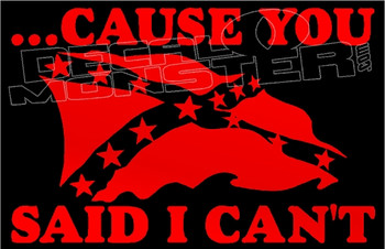 Confederate Flag Cause You Said I Can't Decal Sticker