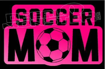 Soccer Mom Writing  Decal Sticker