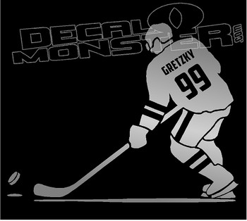 Gretzky Silhouette Decal Sticker