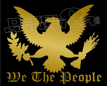 We the People USA Vector Decal Sticker