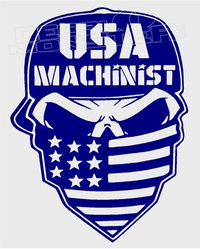 USA Machinist Outlaw Decal Sticker