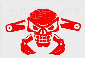 Deadly Digger Hoe Decal Sticker