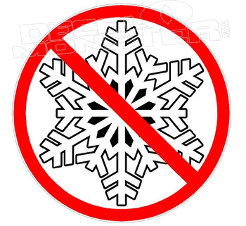 No Snowflakes 1 Decal Sticker