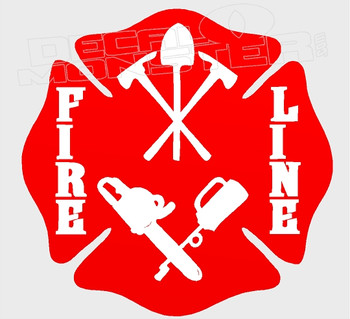 Fireline Firefighter Crest Decal Sticker