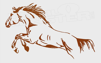 Horse Jumping Silhouette 1 Decal Sticker
