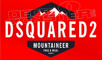 Dsquared 2 Mountaineer Clothing Decal Sticker
