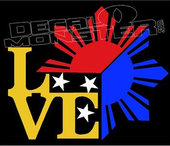 Love Philippines 1 Decal Sticker