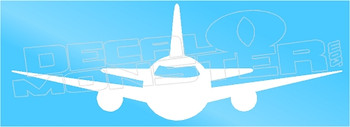Airliner Jet Silhouette Decal Sticker