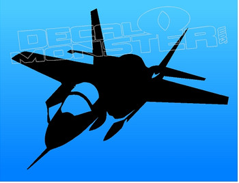 F-18 Fighter Jet Silhouette Decal Sticker DM