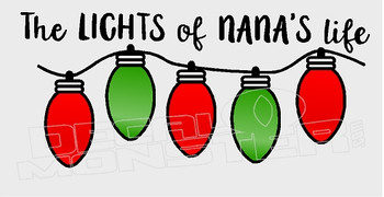 Lights of Nanas Life Grandchildren Christmas Decal Sticker DM
