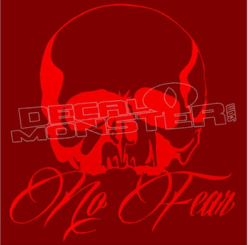 No Fear Skull Silhouette 7 Decal Sticker