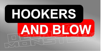 Hookers & Blow Lincoln Electric Welding Decal Sticker
