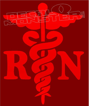 Registered Nurse Medical Symbol Decal Sticker