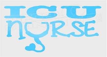 ICU Nurse Wording Decal Sticker