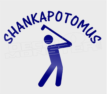 Golf Funny Shankapotomus Decal Sticker