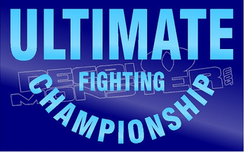 UFC Ultimate Fighting Brand Text 1 Decal Sticker