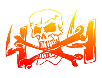 4x4 Skull and Crossbones Decal Sticker