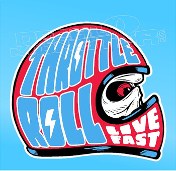 Throttle Roll Live Fast Decal Sticker